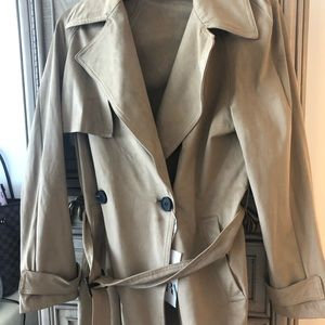 Zara faux suede cropped trench coat size XS